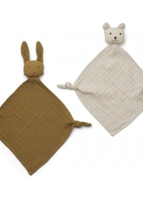 Liewood Yoko mini cuddle cloth 2pack Yellow mix