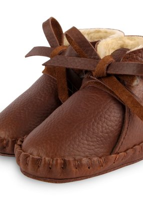 Donsje Pina classic lining Brown Grain leather