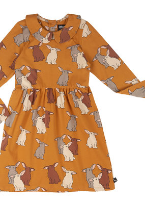 CarlijnQ CQ Rabbits skater dress with collar