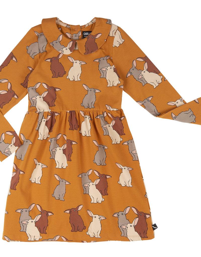CarlijnQ CQ Rabbits skater dress with collar