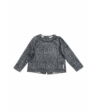 Maed for mini Lazy Leopard  baby blouse