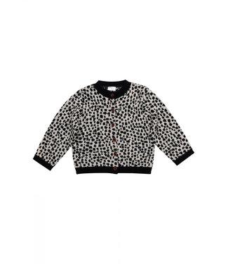 Maed for mini Snow leopard knit cardigan
