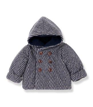 1 + in the family Pollino hood jacket Beige/blue notte