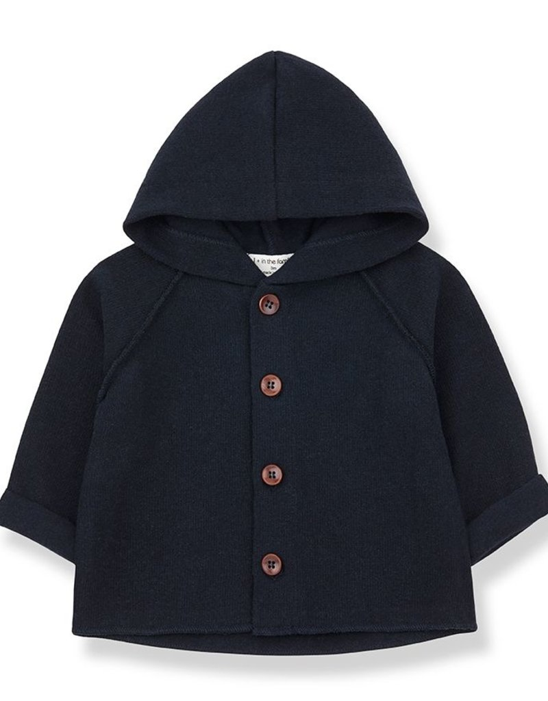 1 + in the family Sau hood jacket Blue notte