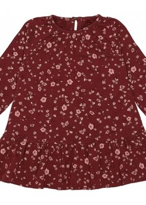 Soft Gallery Alma dress oxblood red flowery
