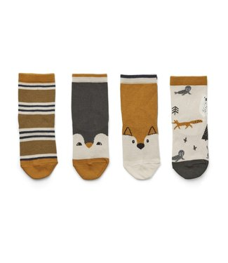 Liewood Silas cotton sock 4pack Arctic mix
