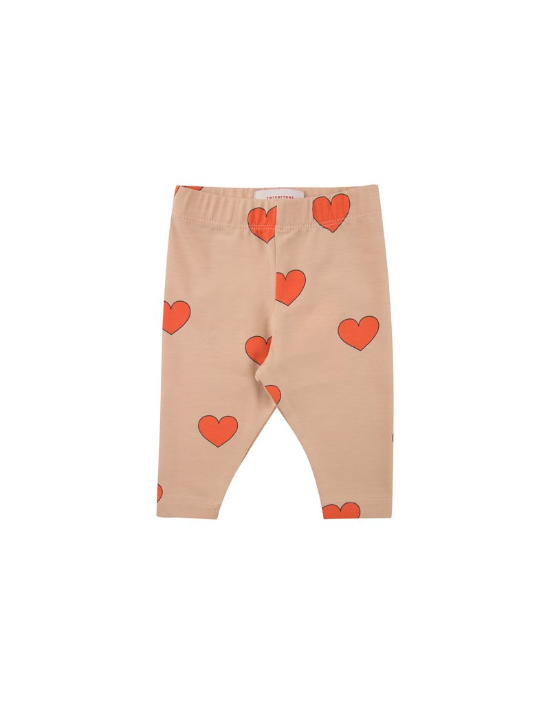 Tiny Cottons Hearts Pants light nude/red