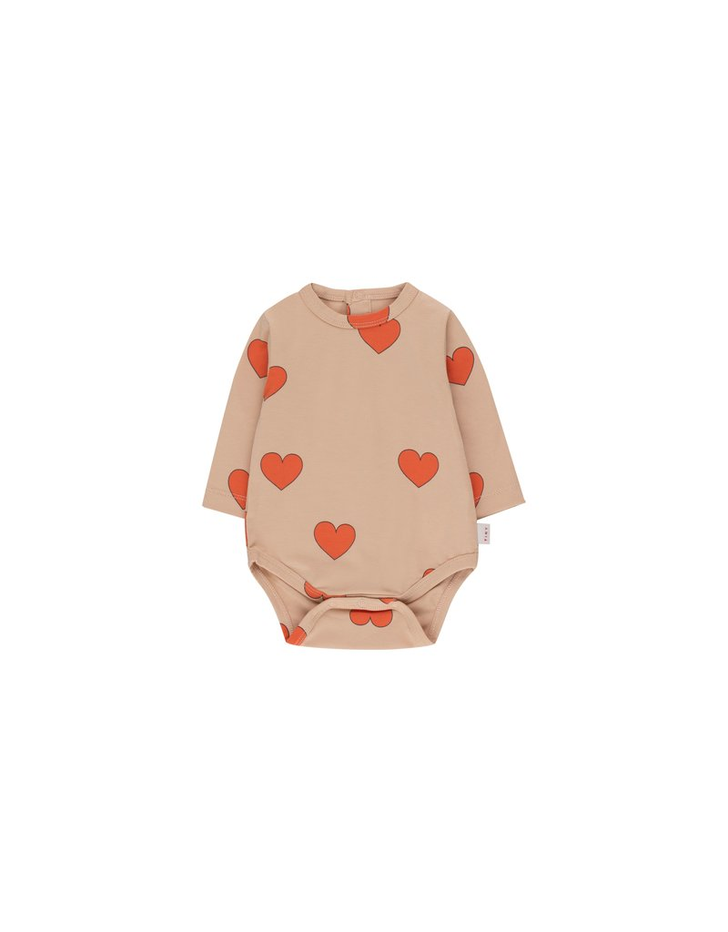 Tiny Cottons Hearts Body light nude/red