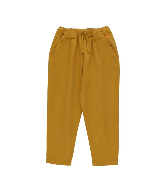 Tiny Cottons Solid pleated pant Mustard