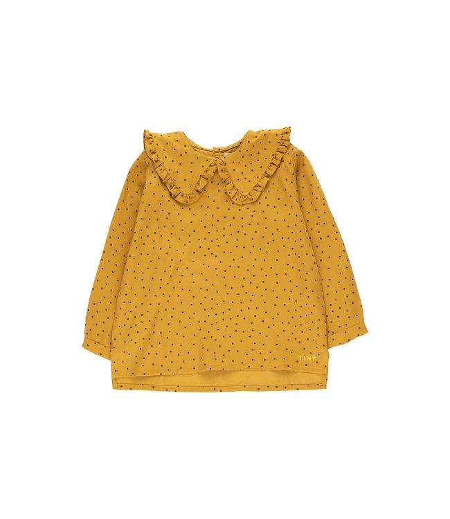 Tiny Cottons Tiny Dots shirt mosterd/navy