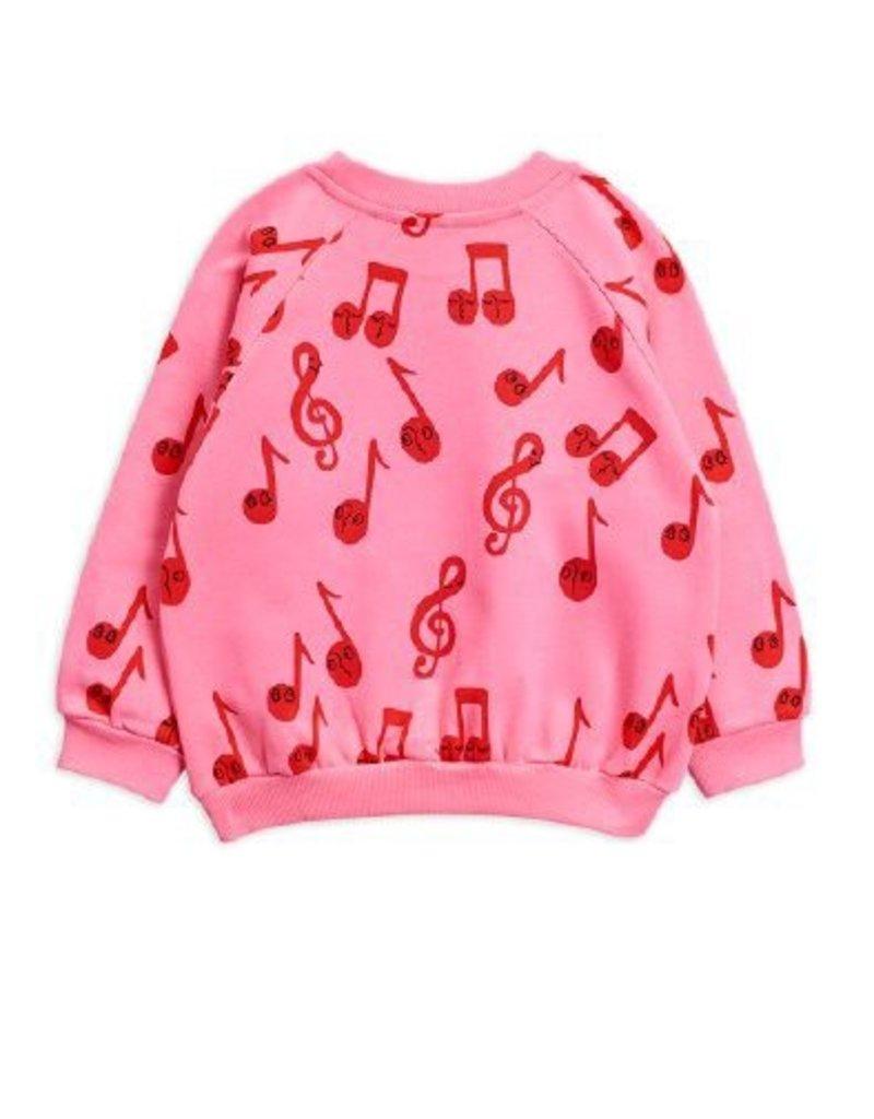 Mini Rodini Notes sweatshirt pink