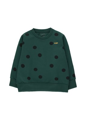 Tiny Cottons Big Dots sweatshirt darkgreen/navy