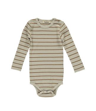 MarMar Copenhagen Plain baby body modal Leather Stripe