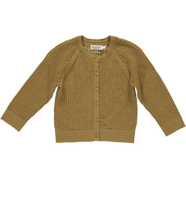 MarMar Copenhagen Totti Pointelle baby knitwear Amber