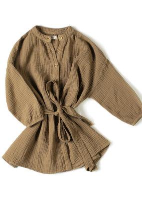 NixNut Cord dress Olive