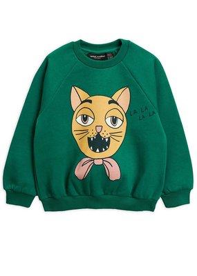 Mini Rodini Cat choir sweatshirt Green