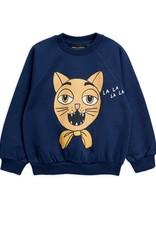 Mini Rodini Cat choir sweatshirt Blue
