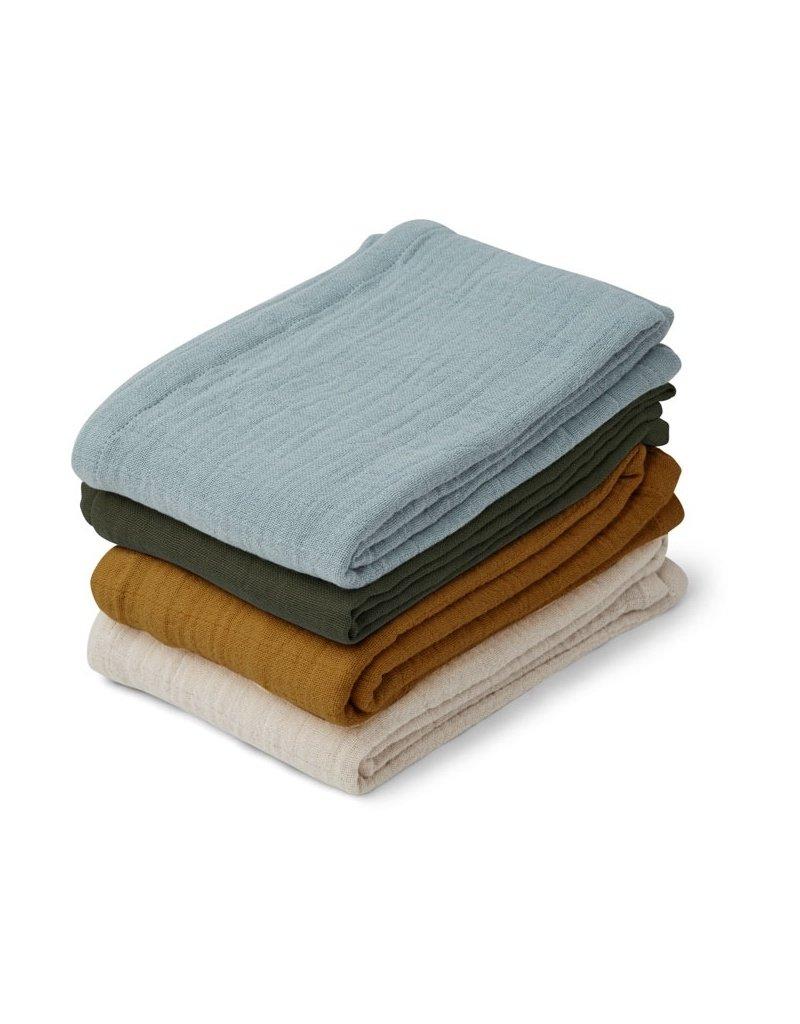 Liewood Leon muslin cloth 4-pack Blue multi mix
