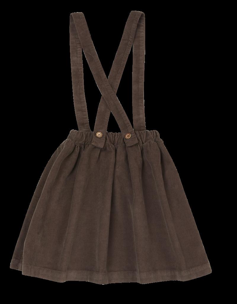 Blossom Kids Suspender skirt Dark Chocolat
