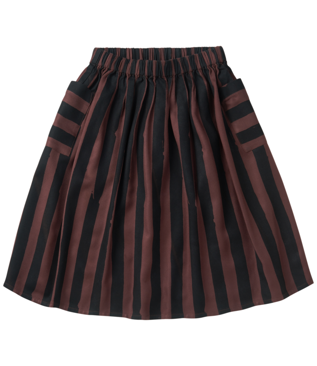 Sproet & Sprout Long Skirt Painted stripe Chocolate