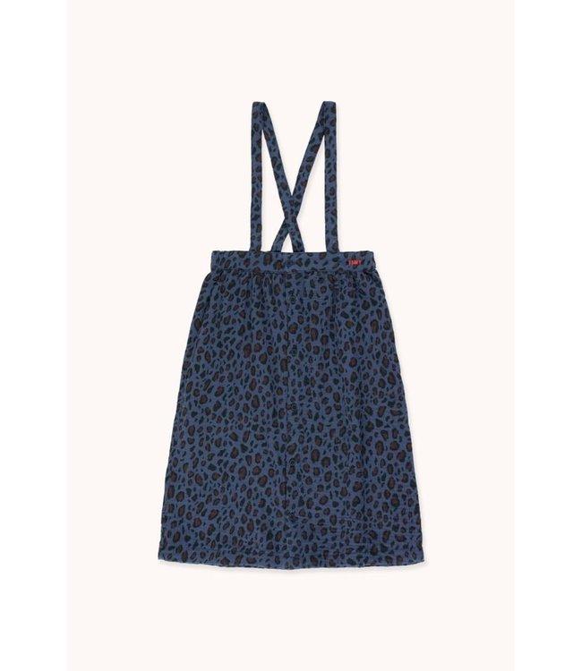 Tiny Cottons Animal print Braces midi skirt