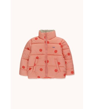 Tiny Cottons Big Dots Padded jacket peachy/red
