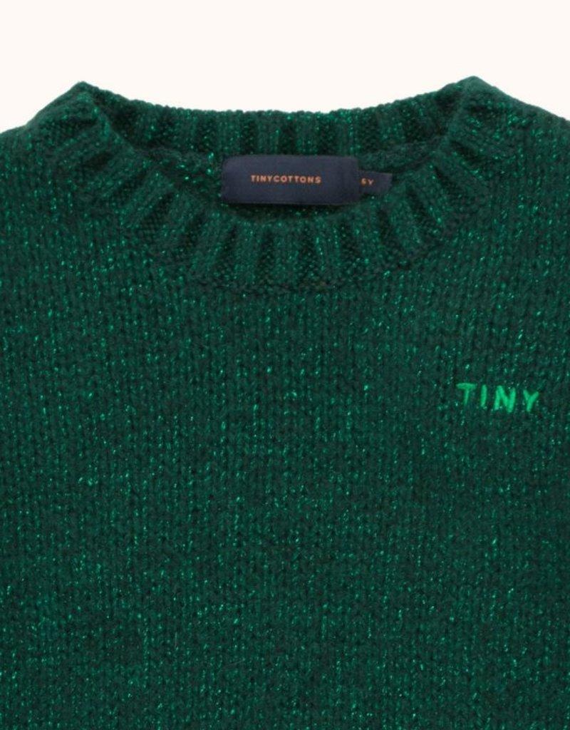 Tiny Cottons Tiny Shiny sweater dark green