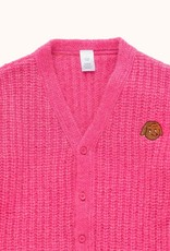 Tiny Cottons Chunky Knit cardigan Bubble gum