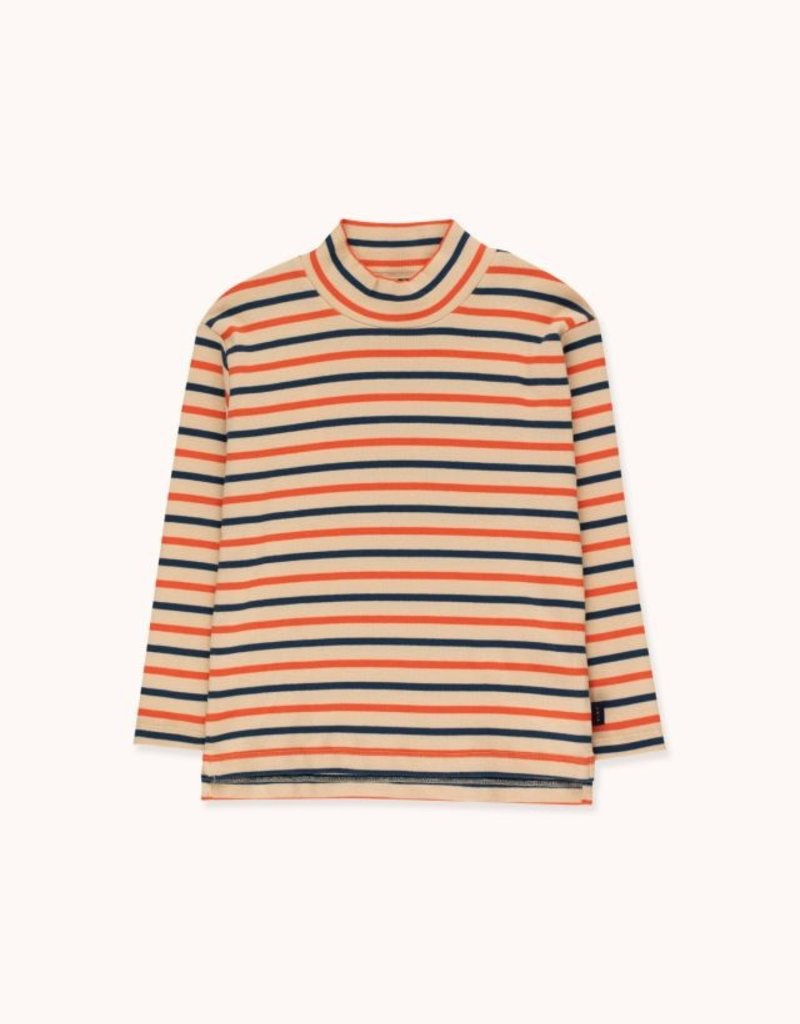 Tiny Cottons Stripes Mockneck tee