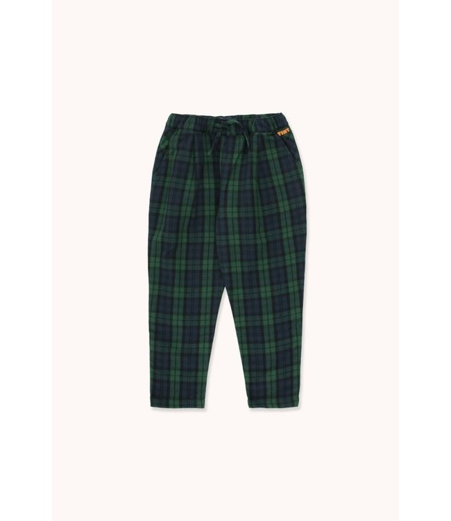 Tiny Cottons Check plated pant navy/darkgreen