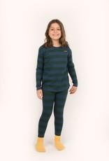Tiny Cottons Tiny Stripes pant dgreen/lnavy