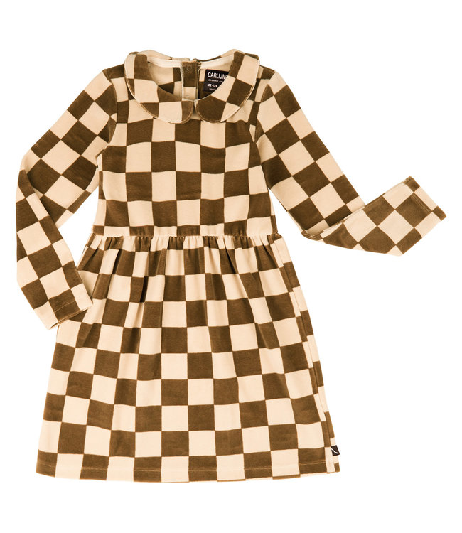 CarlijnQ CQ Checkers skater dress with collar