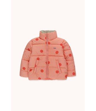 Tiny Cottons BigDots Padded jacket peachy/red