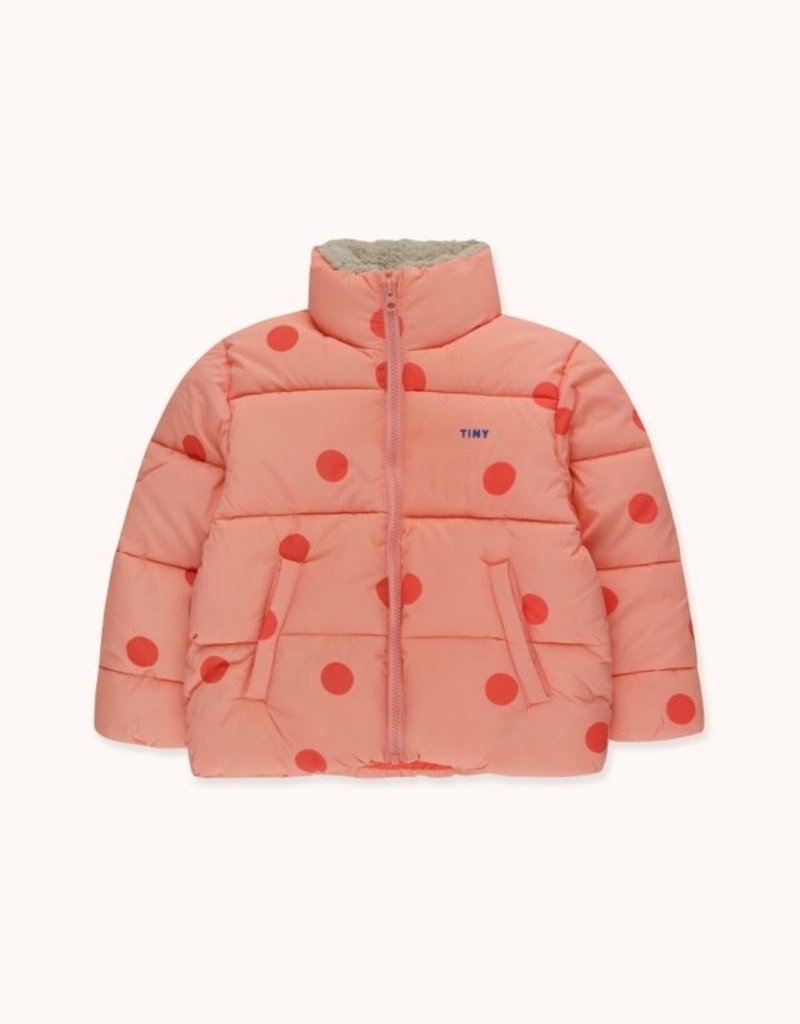 Tiny Cottons BigDots Padded jacket peachy/red