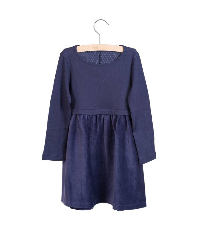 Little Hedonist Pleated dress Stevie Night Blue