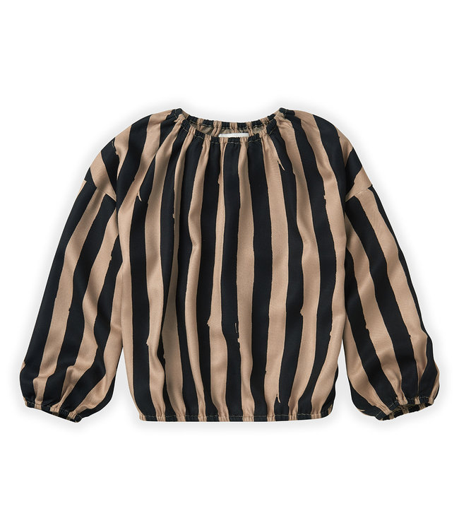 Sproet & Sprout Blouse Painted stripe Sesame