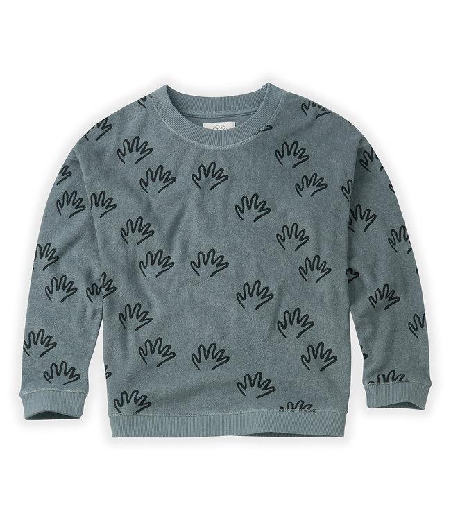 Sproet & Sprout Sweatshirt Happy Hands stone blue