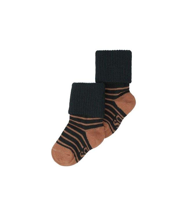Soft Gallery Socks Jet black stripe