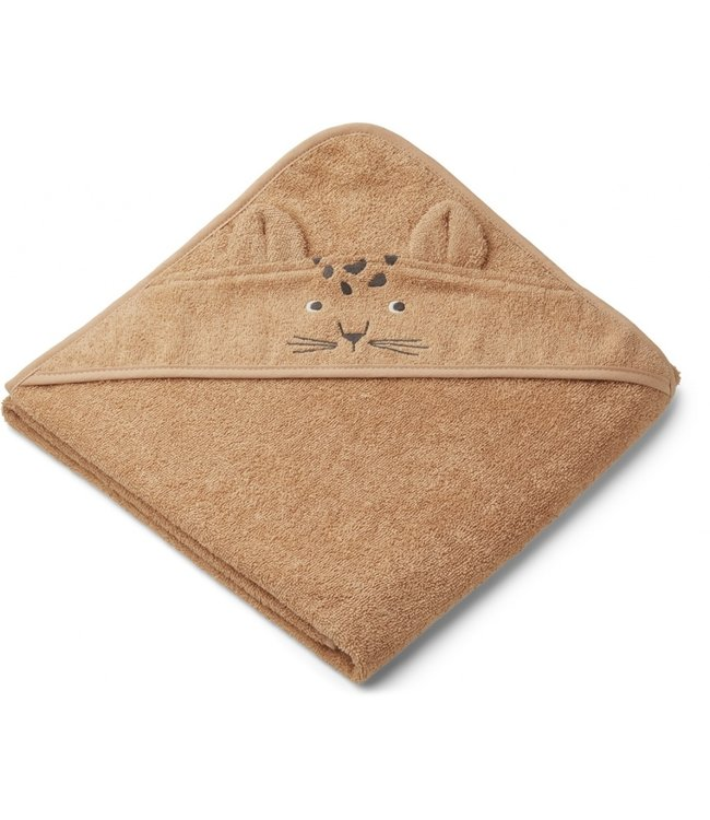 Liewood Augusto hooded towel Leopard apricot