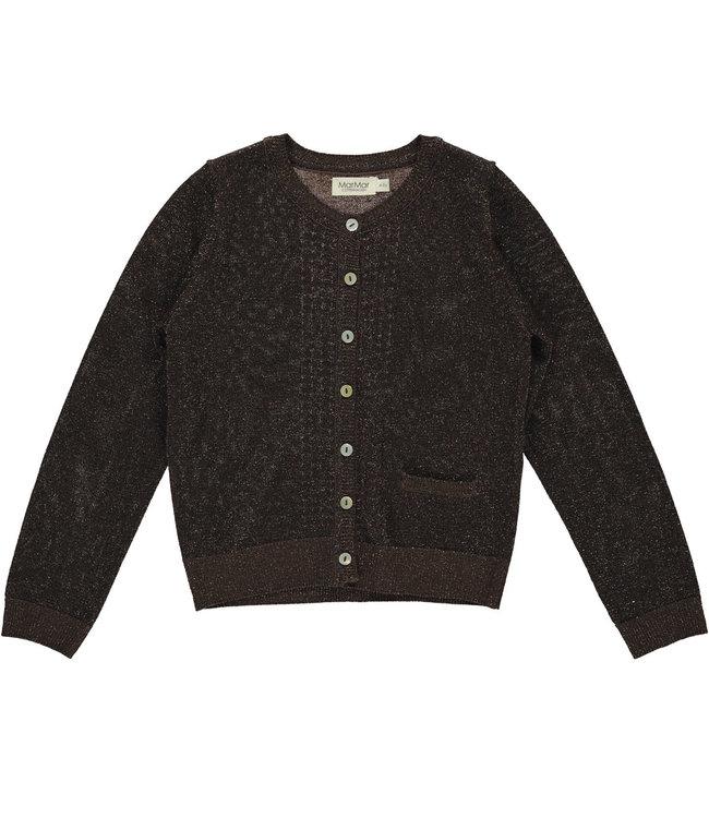 MarMar Copenhagen Tilia lurex knitwear Chocolate