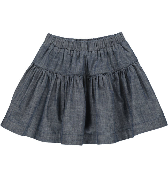 MarMar Copenhagen Sylvia Chambrey Denim blue skirt