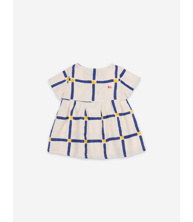 Bobo Choses Cube all over buttoned dress