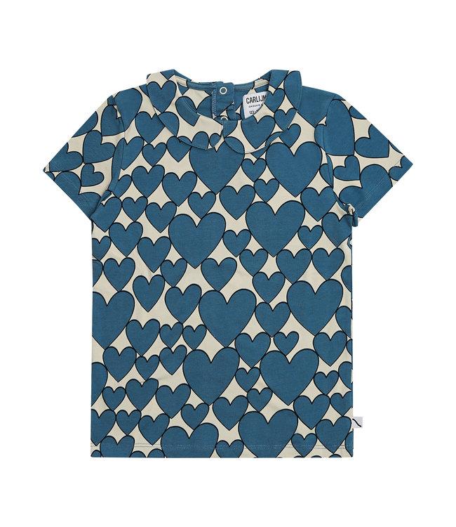 CarlijnQ Hearts t-shirt collar