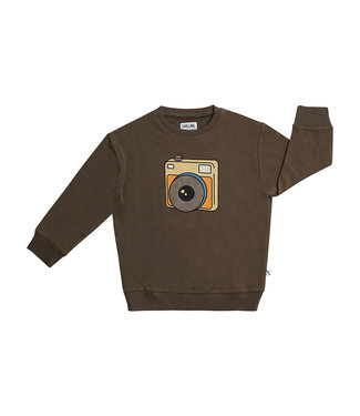 CarlijnQ Photo camera sweater with print
