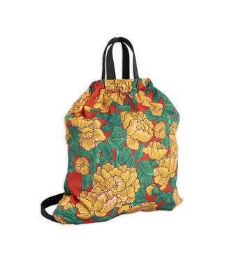 Mini Rodini Peonies drawstring bag