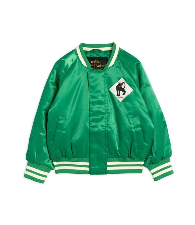 Mini Rodini Panter baseball jacket Green