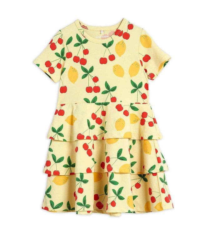 Mini Rodini Cherry lemonade dress Yellow