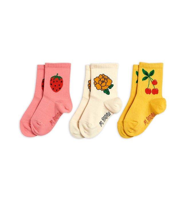 Mini Rodini Cherry and co 3pack socks