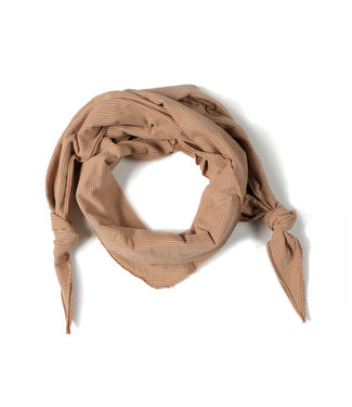 NixNut Triangle scarf Stripe nude caramel