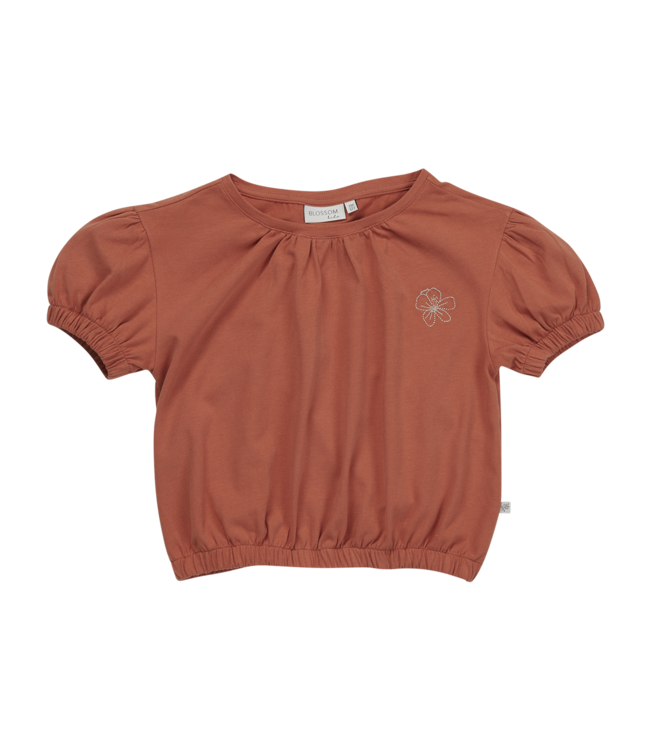 Blossom Kids Cropped top Embroidery Dusty Coral